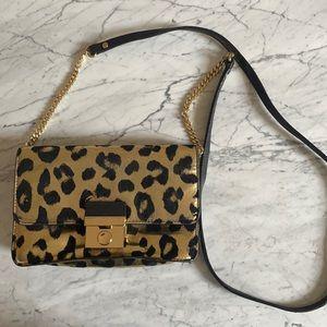 Milly Leopard Small Crossbody Bag